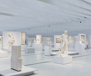 art, white, and museum image