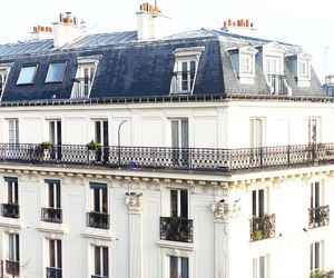 building, white, and france image