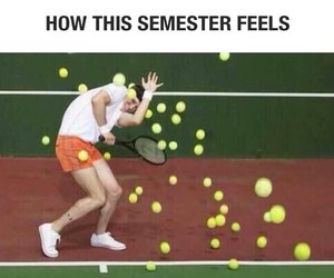 school, tennis, and semester image