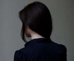 girl, hair, and black image