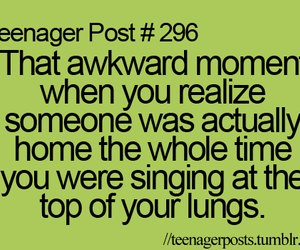 teenager post, awkward, and quote image