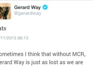 funny, gerard way, and mcr image