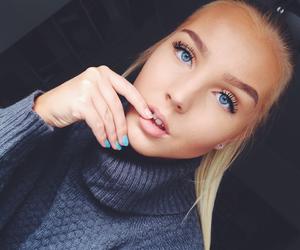 blonde, girl, and fleek image