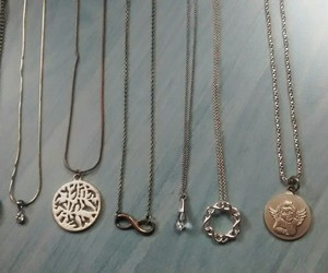 accesories, necklace, and silver image