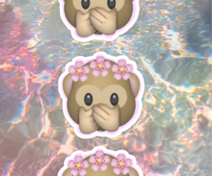 monkey, flower, and wallpaper image