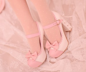 bow, girly, and pastel image