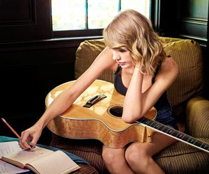girl, guitar, and Taylor Swift image