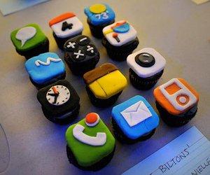 cupcake, iphone, and cake image