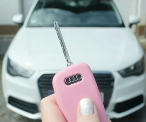 audi, pink, and white image