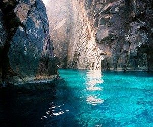 water, blue, and sea image