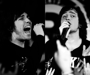black and white, josh franceschi, and you me at six image