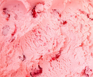 pink, ice cream, and strawberry image