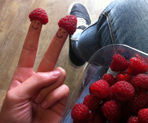 fingers, fruit, and happiness image