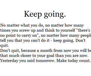 quotes, keep going, and life image