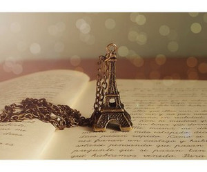 book, paris, and eiffel tower image