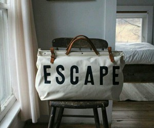 escape, bag, and travel image