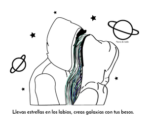 galaxia, love, and Besos image