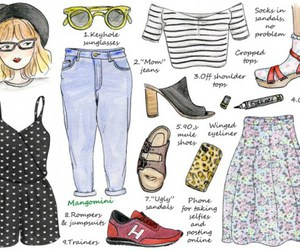 cool, fashion, and drawing image