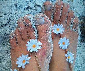 barefoot, boho, and feet image