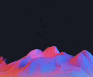 mountain, neon, and cute image