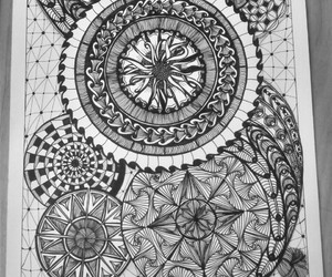 black, doodle, and draw image