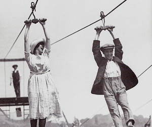 vintage, black and white, and couple image