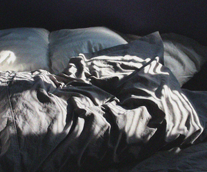 bed, bed sheets, and tumblr bed image