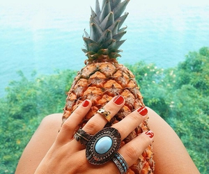 pineapple, nails, and food image