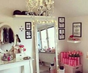 bedroom, cute, and fairy lights image