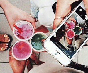 drinks, iphone, and phone image