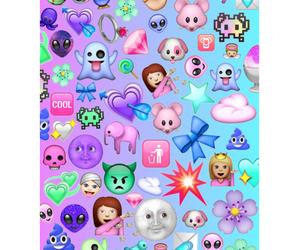 emoji, background, and emojis image