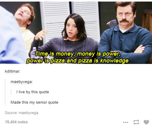 funny, pizza, and knowledge image
