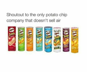 food, funny, and pringles image