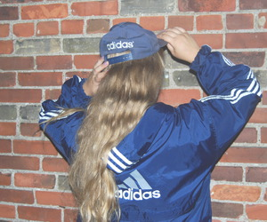adidas, girl, and blue image