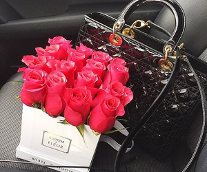 flowers, roses, and dior image
