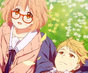 kyoukai no kanata, anime, and gif image
