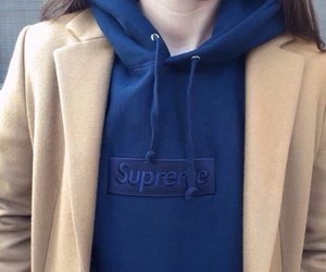supreme, blue, and pale image