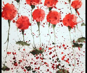 drawing, painting, and poppy image