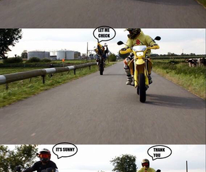 fun, funny, and motorbike image