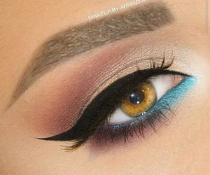 beauty, blue, and eyeliner image