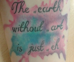 art, tattoo, and watercolour image