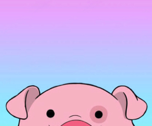 pig, gravity falls, and pink image