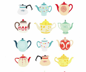 wallpaper, tea, and teapot image
