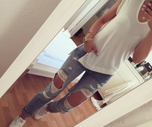 style, tomboy, and nike air image