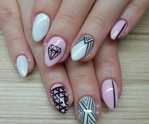 diamond, nail, and ♥ image