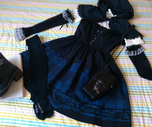 beautiful, dark, and lolita fashion image