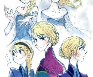 disney princess, frozen, and snow queen image