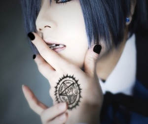 black butler, cosplay, and gothic image