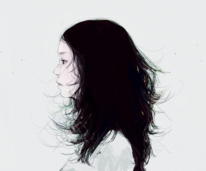 illustration, drawing, and girl image