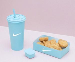 nike, food, and blue image